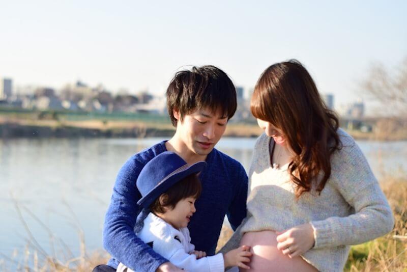 妊娠中のママと家族